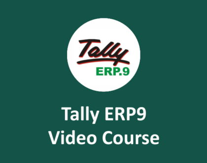 tally erp9 online course with GST