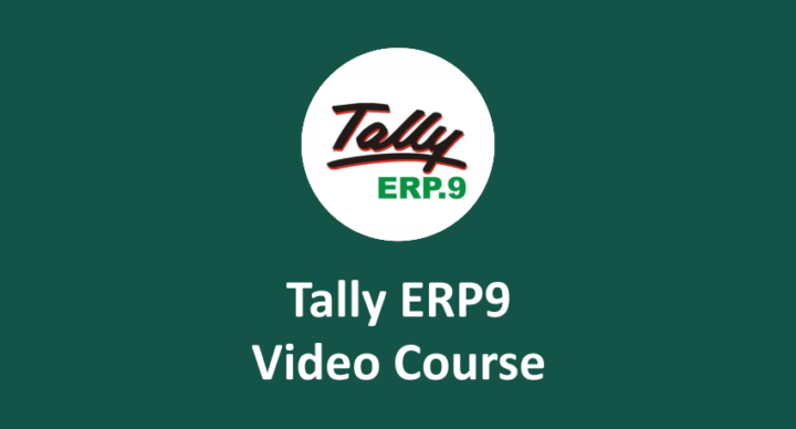 Tally ERP 9 Online Course with GST - Tally Training
