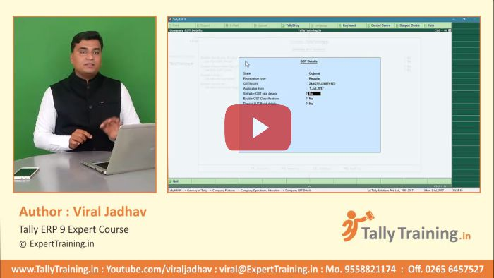 how to activate gst in tally erp9